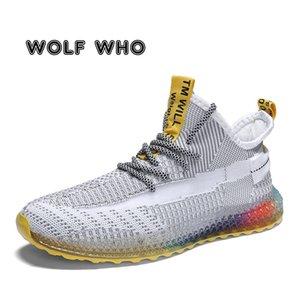 2020 neue Frühlings-Weaving beiläufige Schuh-Mann-Turnschuh-beiläufige Leichte atmungsaktive Zapatillas Shose Men Walking Schuhe BA08