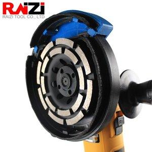 Beton Terrazzo Çift Sıralı Segmenti Aşındırıcılar Taşlama Kupası Wheel için RAIZI 115/120/180 mm Elmas Taşlama Disk