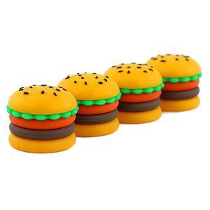 Novo Recipiente de Hamburger Recipiente de Silicone Jar Cera Concentrado de cera 5ml Recipiente de cera Frasco de silicone para cera Silicone Jar Dab Nonsolid Color Poetable