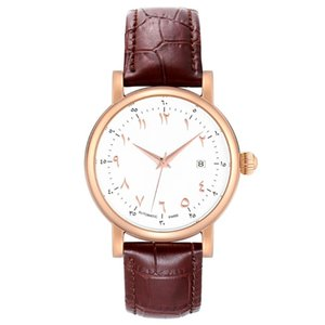 Automatische Bewegung Männer Uhren für Windgesicht Uhr MANN Selbst arabische Ziffern Zifferblatt Automatische große arabische Uhren Mechanisch Case Comer