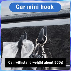 Small Car Holder Wall Hooks Hanger Clip For USB Cable Earphone Keychains Organizer Automobile Interior Accessories