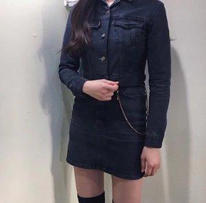 Yeni stil kadın ince yıkanmış kot kısa uzun kollu klip ceket ceket ceket sleeve