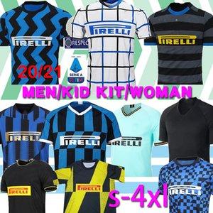 Thaïlande ALEXIS Lukaku LAUTARO Škriniar Inter 2019 2020 2021 maillot de football Milan Calcio GODIN BARELLA de 2019 chemises haut de football 2020