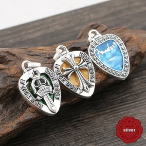 s925 sterling silver pendant personality fashion popular punk street dance style cross flower holy sword letter shape double-sided couple