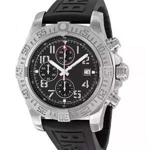 Sport Herrenuhr Super Avenger II 1884 Quarzwerk Chronograph Male Gummibügel Männer Uhren A133711 Armbanduhr ohne Box