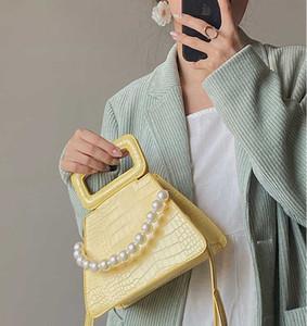 Women bag vintage pu leather small bag irregular cross body women fashion casual shoulder messenger yellow gk99