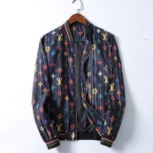 Men's Jacket Long Sleeve Designer Zipper Jacket Fashion Pattern Print Slim Windbreaker Men's Autumn and Winter Outdoor Wear Coat Hot Sale