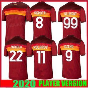 Player versione 20 21 ROMA maglie di calcio a casa il terzo VIA PEROTTI 2020 2021 Roma Maglie Maglia piede Schick Kolarov DZEKO CALCIO CAMICIE