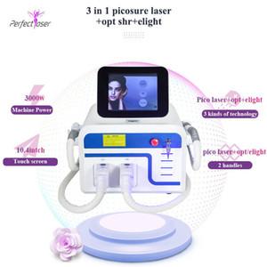4in1 décapant ipl yag machine à tatouer cheveux machine beauté laser 3 poignées multifonctions beauty machine Livraison gratuite