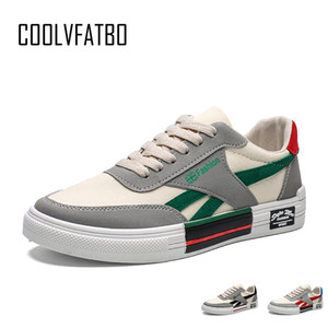 COOLVFATBO Chaussures Hommes vulcaniser Femmes Mode toile Chaussures à lacets Chaussures Hommes Casual Male Flats Chaussures Zapatos Hombre T200724