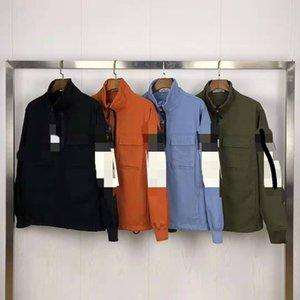 Stone jacket washed half zipper island leisure sports wild long sleeve men and women jacket