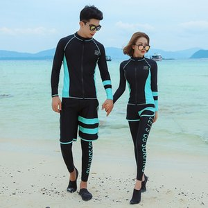 Moer-coreano dividir calças de manga longa nadar de secagem rápida par 9008 diving suit maiô mergulho