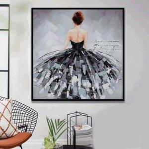 Черный лебедь Dancer Плакаты Современные абстрактные картины маслом стены искусства Холст Фотографии для гостиной Nordic Artwork Home Decor