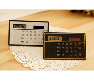 Small Slim Pocket Calculator Stationery Card Portable Calculator Mini Handheld Ultra-thin Card Calculator Solar Power