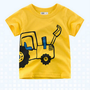 2020 Children's T-shirt for Boys T Shirt Car Cartoon Pattern Tops Child T-shirts for Girls Kids Boy Tshirt Kids New Tees Summer Clothing