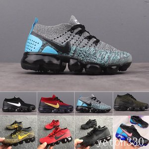 Nike Vapormax flyknit air max  Rainbow Air 2018 Style Fly 2.0 Mens Women Shoes Shock Kids Running Shoes Fashion Children Casual Sports Sneakers Shoes T55DC