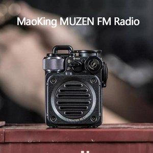 Xiaomi youpin MaoKing MUZEN FM Radio Mini Haut-parleur Bluetooth MW-PVX main de poche étanche Rétro lampe de poche Caisson de basse