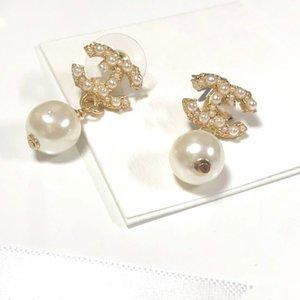 2020 new fashion Women Heart Shape Letter Rhinestone designer Earring Fashion Lady Jewelry Ear Stud free shipping