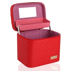 New Korean Storage box bag large capacity large stereo cosmetic bag Pu car Square cosmetic case storage box