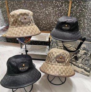 높은 품질 여성 남성 디자이너 브랜드 커플 낚시 모자 힙합 캡 메이플 파나마 버켓 모자 일 (평면 상단 포함) 어부 모자 캡