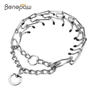 Benepaw Effective Pinch Dog Training Collar With Comfort Rubber Tips Safe Adjustable Detachable Stainless Steel Pet Prong Collar