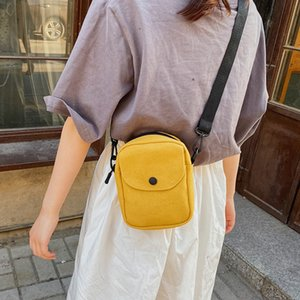 Net red bag female new canvas shoulder bag Korean version of the wild casual messenger ladies casual ball