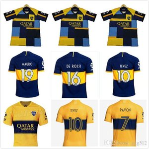 2019 2020 Boca Juniors soccer Jersey 19 20 Boca DE ROSSI GAGO OSVALDO CARLITOS PEREZ TEVEZ PAVON JRS HOME AWAY football Uniform size S-XXL