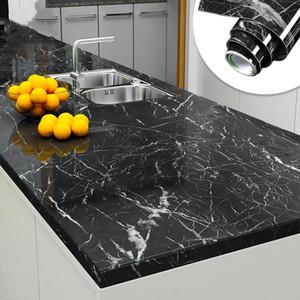 60cm * 5m impermeable a prueba de mármol aceite auto adhesivo del papel pintado de la película pegatinas de pared Baño dormitorio armario de la cocina Home Improvement