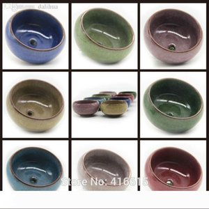Wholesale-8Pcs Lot Microlandschaft Mini Succulent Plants Flowers Vase Flowerpot Terrarium Container Mini Bonsai Pots Ceramic Accessories