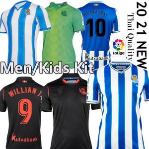 Top Tailândia Real Sociedad sociedade 20 21 camiseta de fútbol Barrenetxea maillot de pé casa longe MEN + KIDS Kits Real Sociedad de Fútbol