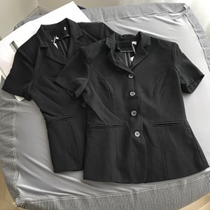 Малого пиджак рукава клип куртка рукав клипа женщины всего-матч с короткими рукавами кардиган рубашка 4,17