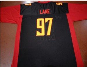 Donna-Uomo della gioventù XFL LA Wildcats # 12 Luis Perez # 97 LANE Jersey formato s-4XL o personalizzato qualsiasi nome o numero di maglia