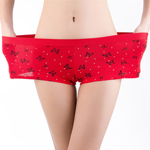 Women Luxury Designer Panties Sexy Comfortable Mid Waist Female Boy Shorts Floral Print Elasticity Womens Underwear