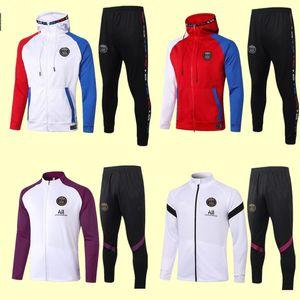 2020 2021 de fútbol chaqueta con capucha del chándal survetement 20 21 Mbappé ICARDI Jordam aire de la chaqueta del fútbol del fútbol de entrenamiento con capucha