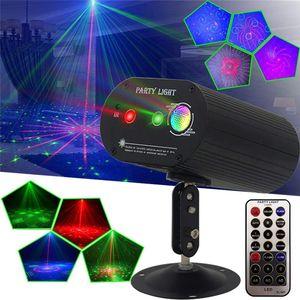 Projector Mini Laser remoto completa Estrelas Padrão Luz DJ DJ Ambiente Dança Bar Disco Party Xmas Efeito Stage Luzes Mostrar