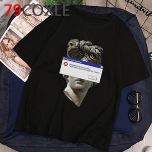 David de Michelangelo Estética camiseta de los hombres de la mano de impresión camiseta divertida de dibujos animados de verano fresco gráfico camiseta de Hip Hop unisex Top del Hombre