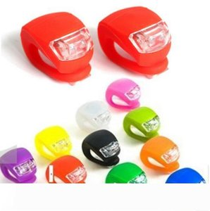 5th Bicycle Cycling Lamp Silicone Bike Head Front Rear Wheel LED Flash Bicycle Light Lamp 8 Colors Include The Battery