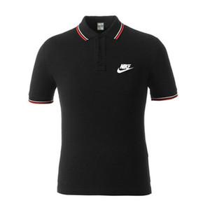 Günlük Polos Gömlek Yaz Çizgili Baskı Tasarımcı Aşağı Yaka Tişörtler Hombres Polo Mens Tasarımcısı Patchwork Nike çevirin