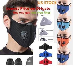 DHL NAVIO Ciclismo máscara reutilizável com um filtro livre menor preço em DHgate ativado esporte funcionar Training Road Bike máscara designer de rosto