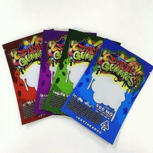 Packagingbag 011 rutubetli DHL itibaren Toptan Worms 500MG Edibles Ayılar Küpler Sakızlı Bags Ambalaj 2020 Dank gummies Çanta Edibles Çanta