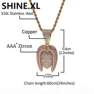 Hip Hop Bijoux Torankusu Collier New Arrival Pendentif zircon cubique Collier cuivre Glacé chaîne Mens cadeau