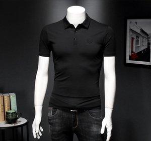 2020 produits européens coton mercerisé polo à manches courtes manches demi-mince en forme des hommes de chemise VP6M de tenue d'affaires décontractée