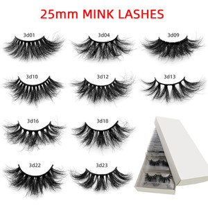 Mink 10 Styles 25mm eyeLash 3d False eyelash Mink Lashes in Bulk Natural Long 5d 8d False Eyelash free shipping