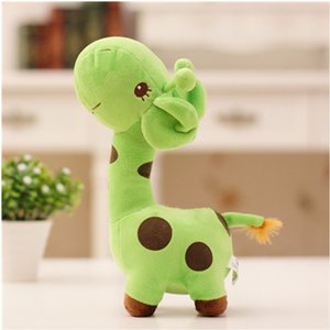 cores Gifts5 coloridos 18 centímetros Unisex Presente bonito Plush Giraffe Soft Toy animal Caro boneca Kid criança feliz aniversário do Natal