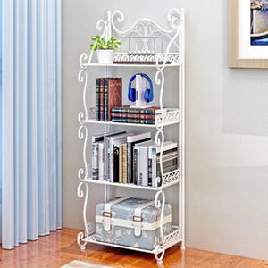 Multi-Tier Storage Rack Bedroom Iron Bookshelf Floor Living Room Bathroom Bathroom Room Storage Small Shelf