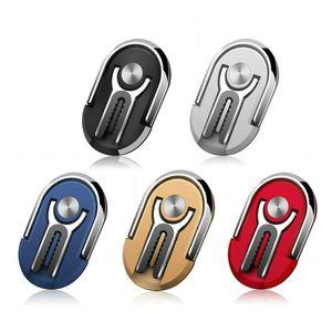 2 In 1 Universal Finger Ring Car Phone Holder Air Vent Mount Stand Multipurpose 360 Rotating Metal Phone Desktop Stand Bracket