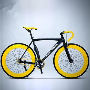 New Fixed Gear Bike 700cc roues en alliage d'aluminium 52cm Cadre Muscle Vélo de route Fixie Fiets Bicicleta