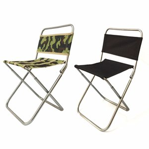 Wholesale Outdoor Camping Folding Chair Camouflage Black Fishing folding Stool Patio BBQ Armchair Aluminum Alloy Benches A06