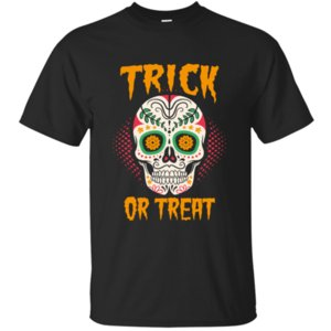 Short Sleeve Breath Calavera Trick Or Treat T-Shirt Man Outfit Mode für Männer T-Shirt Verrücktes Hiphop Tops Unisex