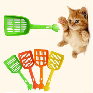 Pet Spade plastique Pet fécal Nettoyage Spade net Cat Dog Tabouret Pelle Pet fécal Nettoyage Spade avec poignée Fournitures Multi Color Cat LSK601